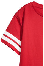 Cropped T-shirt - Red -  | H&M 3
