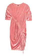 Crushed velvet dress - Coral pink - Ladies | H&M 2