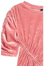 Crushed velvet dress - Coral pink - Ladies | H&M 3