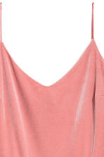 Velour playsuit - Coral pink - Ladies | H&M 3