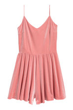 Velour playsuit - Coral pink - Ladies | H&M 2