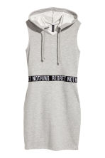 Hooded dress - Grey marl - Ladies | H&M CN 2