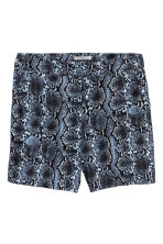 Wide shorts - Blue/Snake print - Ladies | H&M CN 2