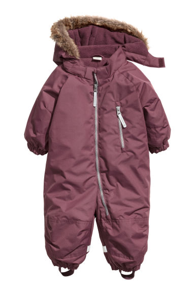 Padded outdoor all-in-one suit - Plum -  | H&M CN
