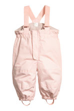 Outdoor trousers with braces - Pink -  | H&M 1