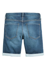 Super Soft denim shorts - Dark denim blue -  | H&M CA 3