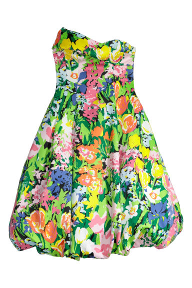Balloon dress - Multicoloured/Patterned - Ladies | H&M IE