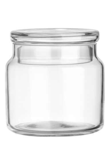 Pot en verre avec couvercle - Verre transparent - Home All | H&M FR