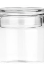 Glass jar with a lid - Clear glass - Home All | H&M IE 2