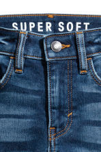 Super Soft Skinny Fit Jeans - Dark denim blue - Kids | H&M 4