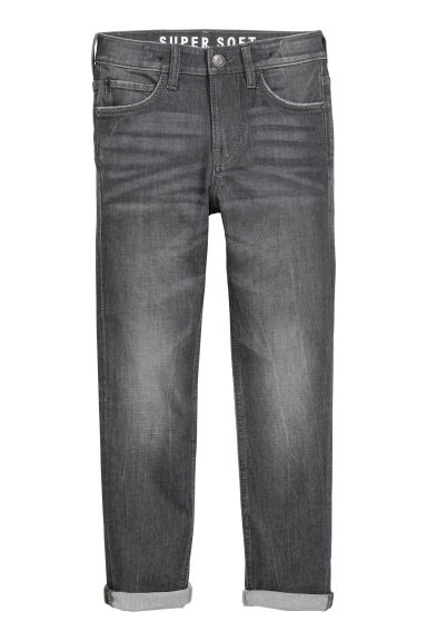 Super Soft Skinny Fit Jeans - Schwarzer Denim - KINDER | H&M CH