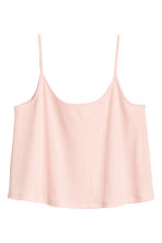 Ribbed Camisole Top - Powder pink - Ladies | H&M CA 1