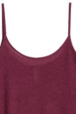 Ribbed strappy top - Burgundy marl - Ladies | H&M CN 2