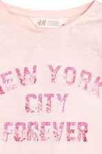Long-sleeved top - Light pink/New York - Kids | H&M 3