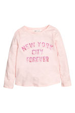 Long-sleeved top - Light pink/New York - Kids | H&M 2