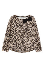 Long-sleeved top - Beige/Leopard print - Kids | H&M CN 2