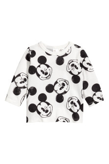 Printed long-sleeved T-shirt