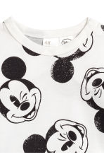 Printed long-sleeved T-shirt - Natural white/Mickey Mouse - Kids | H&M 2
