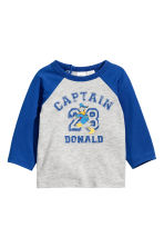 Printed long-sleeved T-shirt - Blue/Donald Duck - Kids | H&M 1