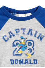 Printed long-sleeved T-shirt - Blue/Donald Duck - Kids | H&M 2