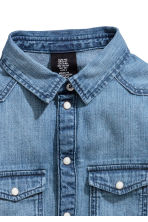 Super Soft denim shirt - Denim blue -  | H&M 2