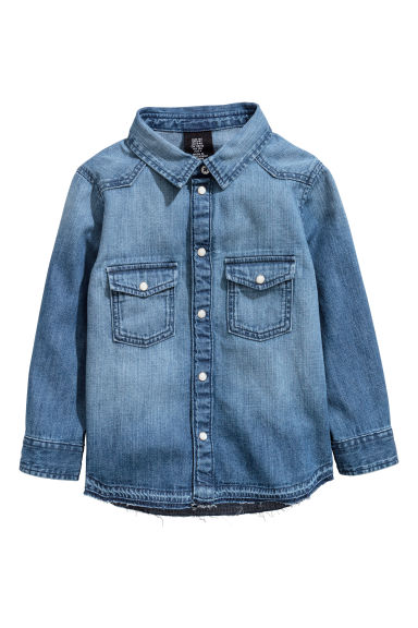 Super Soft denim shirt - Denim blue -  | H&M 1