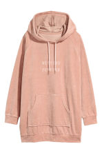 Velour Hooded Top - Powder pink - Ladies | H&M CA 2
