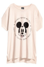 Pyjama top and leggings - Light beige/Mickey Mouse - Ladies | H&M 4