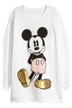Lounge set top and leggings - White/Mickey Mouse - Ladies | H&M GB 4