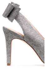Glittery court shoes with bow - Black/Silver-coloured - Ladies | H&M 4
