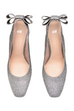Glittery court shoes with bow - Black/Silver-coloured - Ladies | H&M 2