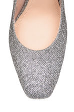 Glittery court shoes with bow - Black/Silver-coloured - Ladies | H&M 3