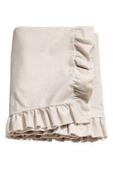 Linen-blend tablecloth