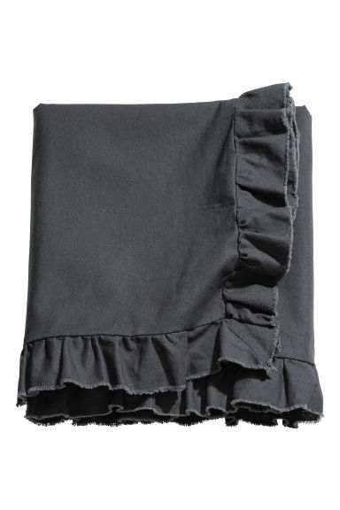 Linen-blend tablecloth - Anthracite grey - Home All | H&M GB