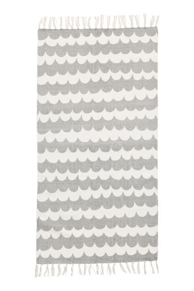 Patterned Cotton Rug - Light gray - Home All | H&M CA