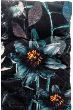 Cotton Velvet Seat Cushion - Dark gray/floral - Home All | H&M CA 2