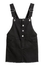 Dungaree dress - Black -  | H&M CN 2