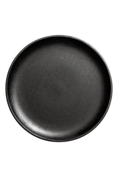 Wooden Plate - Black - Home All | H&M CA 1