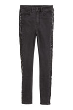 Twill trousers Slim fit - Black/Washed out - Ladies | H&M IE 2