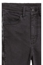 Twill trousers Slim fit - Black/Washed out - Ladies | H&M IE 4