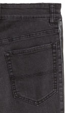 Twill trousers Slim fit - Black/Washed out - Ladies | H&M IE 3