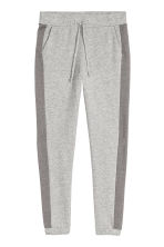 Sweatpants with side stripes - Grey marl - Ladies | H&M CN 2