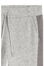 Sweatpants with side stripes - Grey marl - Ladies | H&M 3