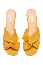Suede sandals - Yellow - Ladies | H&M 3