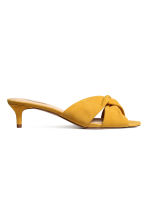 Suede sandals - Yellow - Ladies | H&M 2