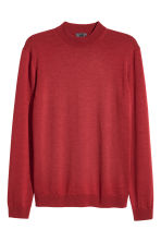 Merino wool turtleneck jumper - Dark red -  | H&M 2
