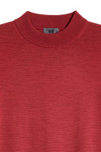 Merino wool turtleneck jumper - Dark red -  | H&M 3