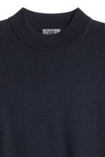 Merino wool turtleneck jumper - Dark blue - Men | H&M 3
