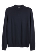 Merino wool turtleneck jumper - Dark blue - Men | H&M 2