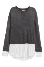 Fine-knit top - Dark grey marl - Ladies | H&M CN 2